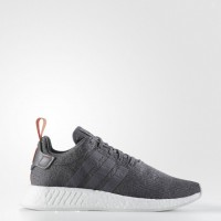 Hombre Adidas Originals Nmd_r2 Zapatillas casual - Gris Cinco/Gris Cinco/Naranja (By3014)
