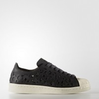 Núcleo Negro/Núcleo Negro/Apagado Blanco Mujer Zapatillas Adidas Originals Superstar 80s Cut-Out (By2120)
