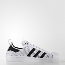 Blanco/Núcleo Negro/Blanco Mujer Zapatillas Adidas Originals Superstar 80s Primeknit Slip-On (S76536)