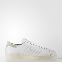 Calzado Blanco/Calzado Blanco/Vendimia Blanco Hombre Adidas Originals Superstar 80s Decon Zapatillas (Bz0109)