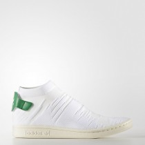 Calzado Blanco/Calzado Blanco/Verde Mujer Zapatillas Adidas Originals Stan Smith Choque Primeknit (By9252)