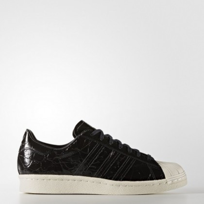 5f8bfb4c0cd Núcleo Negro/Apagado Blanco Mujer Zapatillas casual Adidas Originals  Superstar 80s (Bb2055)